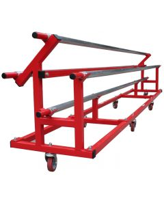 Rhythmic carpet storage trolley