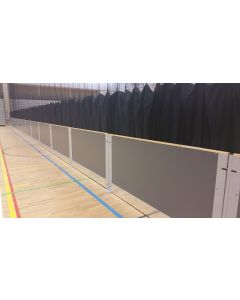 Sports hall rebound boards