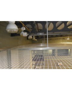 Ceiling / roof and wall protection netting