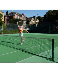 76mm Square Tennis Posts - Steel - Socketed