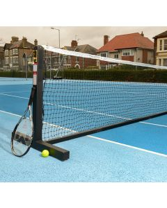 Steel freestanding tennis posts