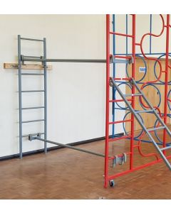 Wall fixed ladder for bridging