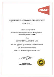 BWF approved badminton posts