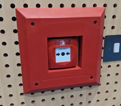 Sports hall fire alarm call point padding