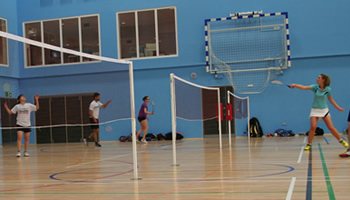 Socketed BWF approved badminton posts from Continental Sports Ltd