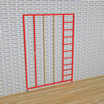 3 Gate Steel Foldaway Climbing Frame - Gate design No.2 Ropes