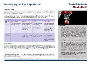 Sport England data sheet - basketball