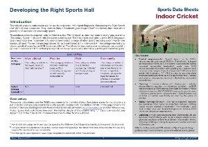 Sport England data sheet - cricket