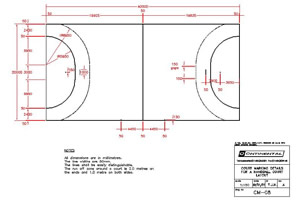 Court dimensions - handball