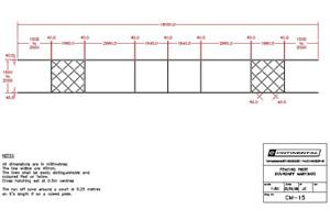 Fencing piste dimensions