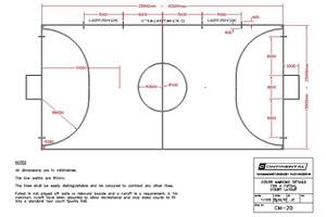 Futsal court dimensions
