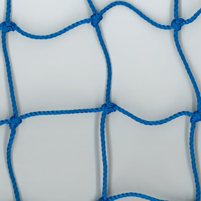 Sports hall divider curtains - blue netting