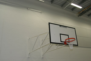 Sports hall walls white