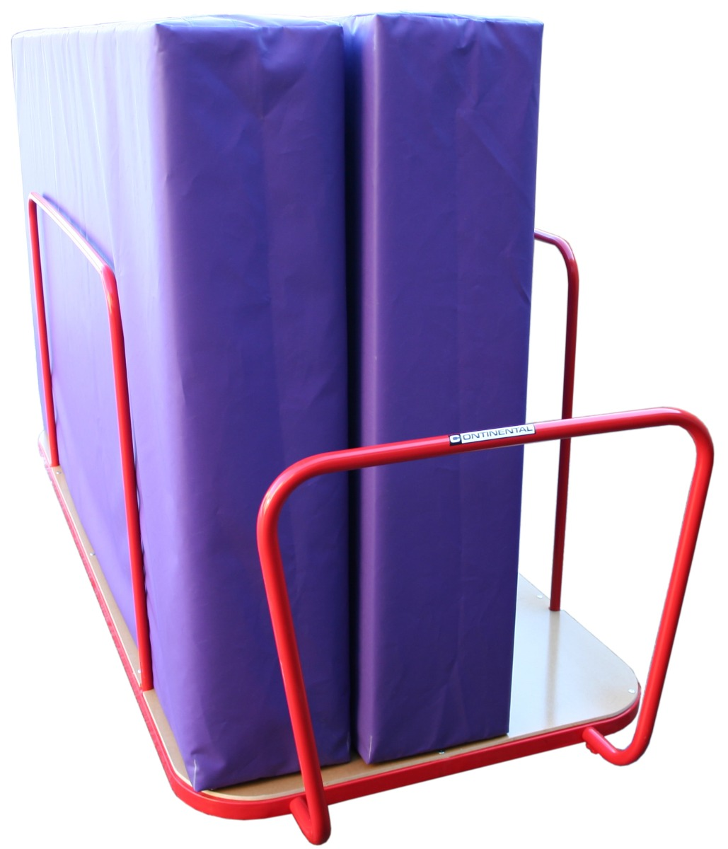 Safety mat / crash mat trolley